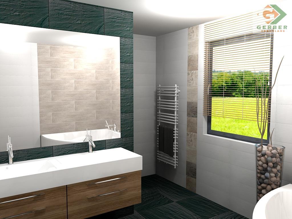 Salle de bain thème ardoise/bois Bathroom By Anne WAGENHEIM ...