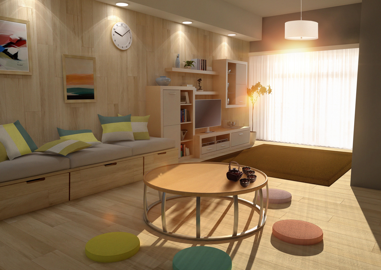 Modern Japanese Living - Farid LivingRoom By Niro-Designer ...