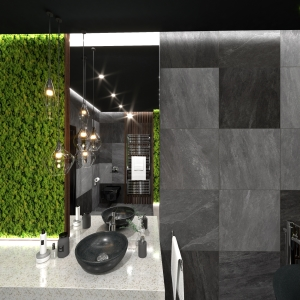 Bathroom Dark Moss Wooden Bathroom (ViSoft)