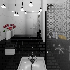 Bathroom Black&White (Jasminka Mihaljević)