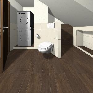 Bad Dachgeschoss mit Waschmaschine und Trockner Bathroom Von ...