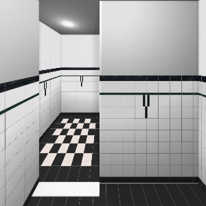 Definitief zwart wit bathroom by monique mozaiek on visoft360 portal - Deco toilet zwart ...