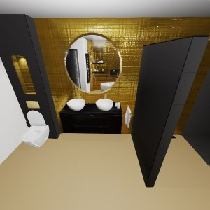 Bathroom goud-zwart (Max)