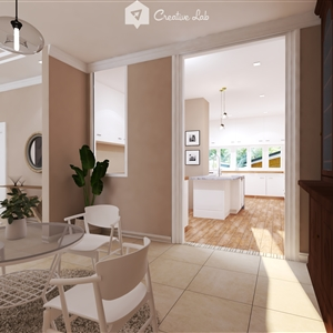 LivingRoom Belle_KitchenView (Creative Lab Malaysia)
