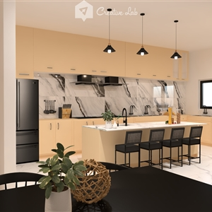 LivingRoom Firdaus_ Kitchen & Dining (Creative Lab Malaysia)