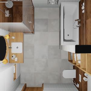 90 White Wooden Bathroom (ViSoft)