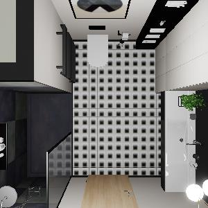 90 Modern Black Geometry Bathroom (ViSoft)